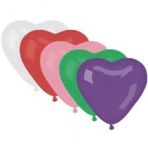 Balon Gumowy Serce bez nadruku-50szt